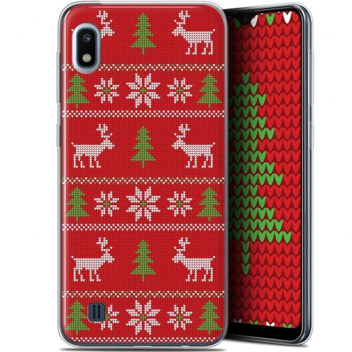 "Extra Slim Gel Samsung Galaxy A10 (6.2"") Case Noël 2017 Couture Rouge"