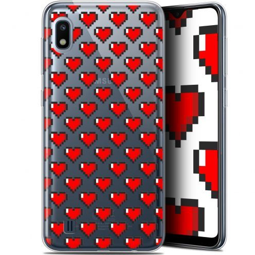 "Extra Slim Gel Samsung Galaxy A10 (6.2"") Case Love Pixel Art"