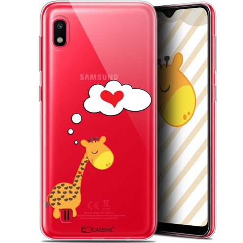 "Extra Slim Gel Samsung Galaxy A10 (6.2"") Case Love Girafe Amoureuse"