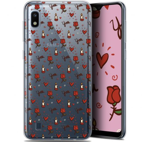 "Extra Slim Gel Samsung Galaxy A10 (6.2"") Case Love Bougies et Roses"