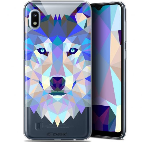"Extra Slim Gel Samsung Galaxy A10 (6.2"") Case Polygon Animals Wolf"