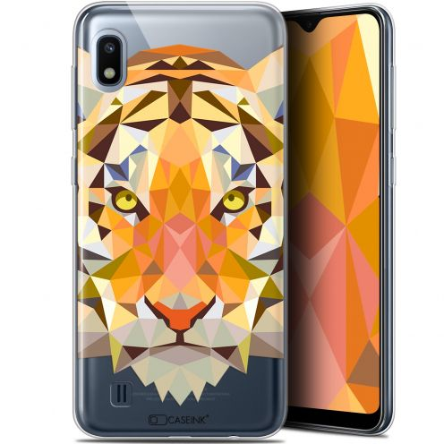 "Extra Slim Gel Samsung Galaxy A10 (6.2"") Case Polygon Animals Tiger"