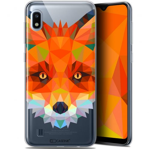 "Extra Slim Gel Samsung Galaxy A10 (6.2"") Case Polygon Animals Fox"