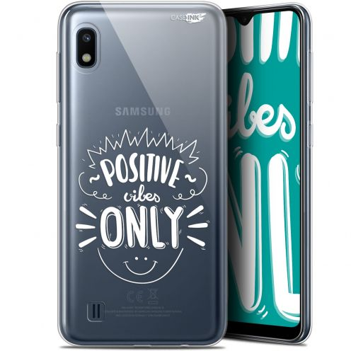 "Extra Slim Gel Samsung Galaxy A10 (6.2"") Case Design Positive Vibes Only"