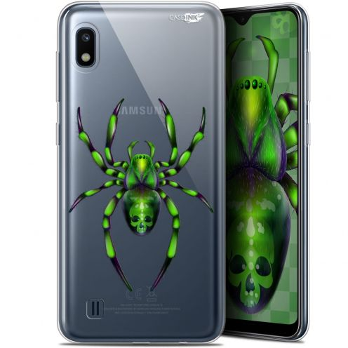 "Extra Slim Gel Samsung Galaxy A10 (6.2"") Case Design Arraignée Verte"