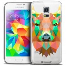Extra Slim Crystal Galaxy S5 Mini Case Polygon Animals Deer