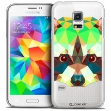 Extra Slim Crystal Galaxy S5 Mini Case Polygon Animals Racoon