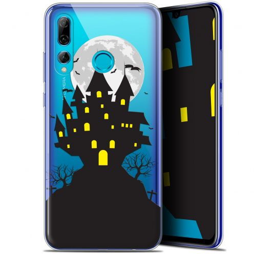 "Extra Slim Gel Huawei P Smart+ / Plus 2019 (6.2"") Case Halloween Castle Scream"