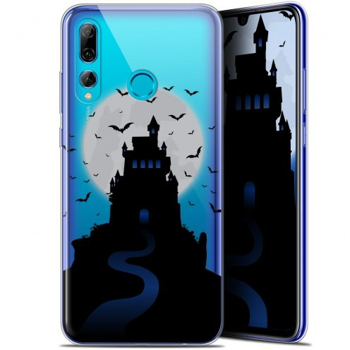 "Extra Slim Gel Huawei P Smart+ / Plus 2019 (6.2"") Case Halloween Castle Nightmare"