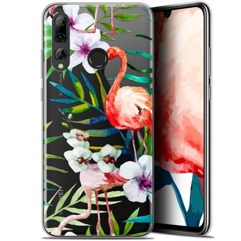 "Extra Slim Gel Huawei P Smart+ / Plus 2019 (6.2"") Case Watercolor Tropical Flamingo"