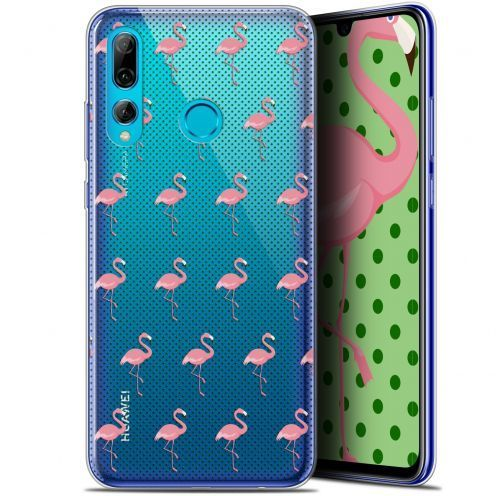 "Extra Slim Gel Huawei P Smart+ / Plus 2019 (6.2"") Case Pattern Les flamants Roses Dots"
