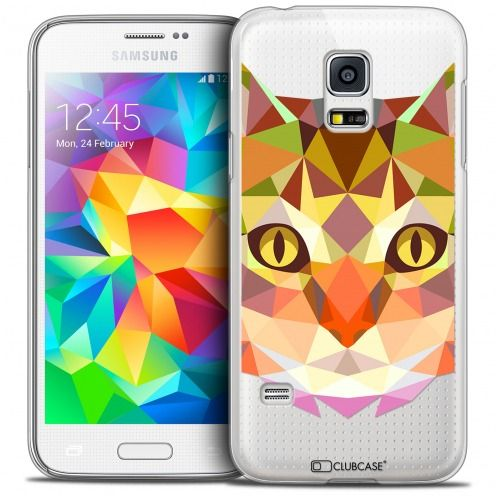 Extra Slim Crystal Galaxy S5 Case Polygon Animals Cat
