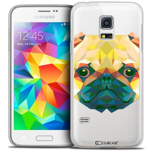 Extra Slim Crystal Galaxy S5 Mini Case Polygon Animals Dog