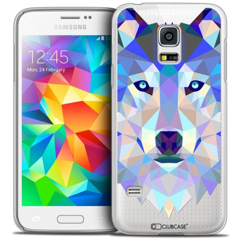 Extra Slim Crystal Galaxy S5 Mini Case Polygon Animals Wolf