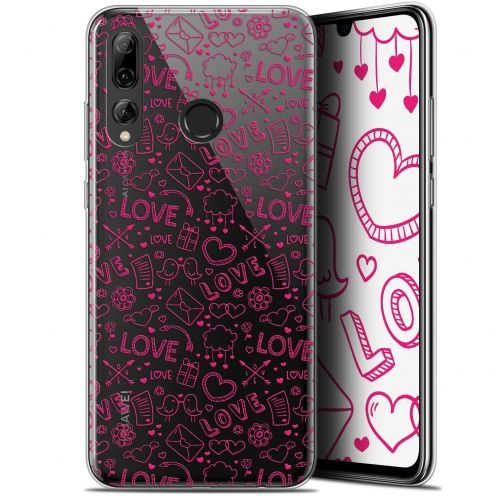 "Extra Slim Gel Huawei P Smart+ / Plus 2019 (6.2"") Case Love Doodle"