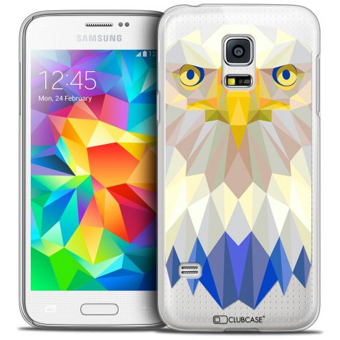 Extra Slim Crystal Galaxy S5 Case Polygon Animals Eagle