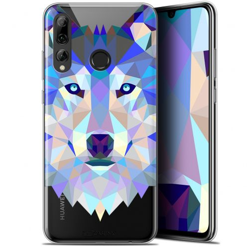 "Extra Slim Gel Huawei P Smart+ / Plus 2019 (6.2"") Case Polygon Animals Wolf"