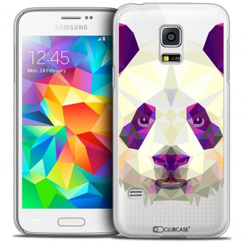 Extra Slim Crystal Galaxy S5 Mini Case Polygon Animals Panda