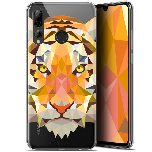 "Extra Slim Gel Huawei P Smart+ / Plus 2019 (6.2"") Case Polygon Animals Tiger"