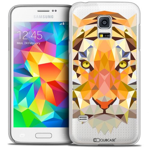 Extra Slim Crystal Galaxy S5 Mini Case Polygon Animals Tiger