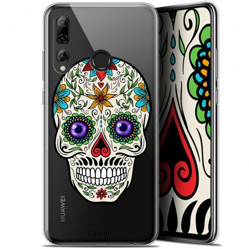 "Extra Slim Gel Huawei P Smart+ / Plus 2019 (6.2"") Case Skull Maria's Flower"
