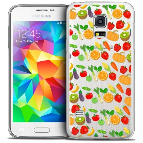 Extra Slim Crystal Galaxy S5 Mini Case Foodie Healthy