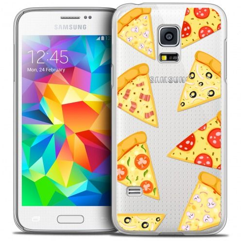 Extra Slim Crystal Galaxy S5 Case Foodie Pizza