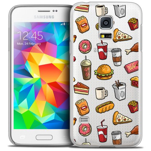 Extra Slim Crystal Galaxy S5 Case Foodie Fast Food