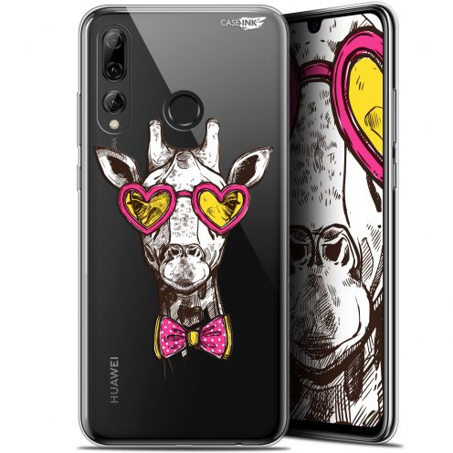 "Extra Slim Gel Huawei P Smart+ / Plus 2019 (6.2"") Case Design Hipster Giraffe"