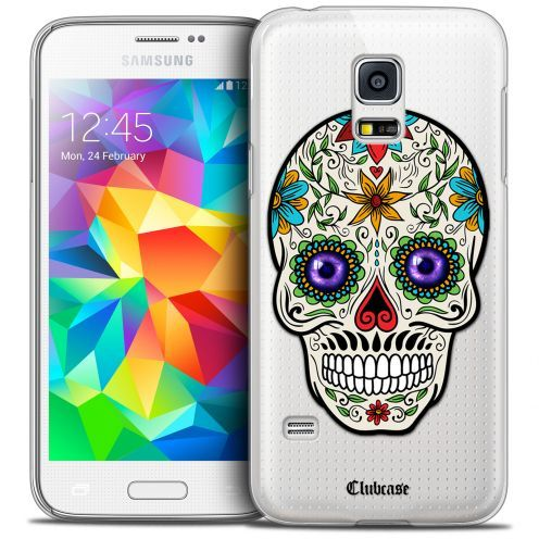Extra Slim Crystal Galaxy S5 Mini Case Skull Maria's Flower