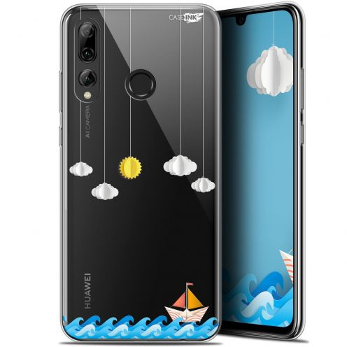 "Extra Slim Gel Huawei P Smart+ / Plus 2019 (6.2"") Case Design Petit Bateau en Mer"