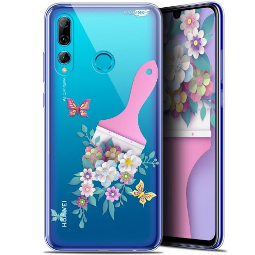 "Extra Slim Gel Huawei P Smart+ / Plus 2019 (6.2"") Case Design Pinceau à Fleurs"