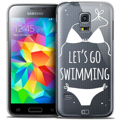 Extra Slim Crystal Galaxy S5 Mini Case Summer Let's Go Swim