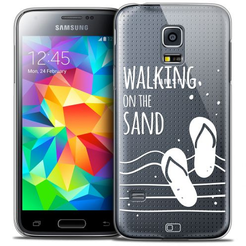 Extra Slim Crystal Galaxy S5 Mini Case Summer Walking on the Sand