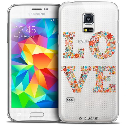 Extra Slim Crystal Galaxy S5 Mini Case Summer Love Flowers