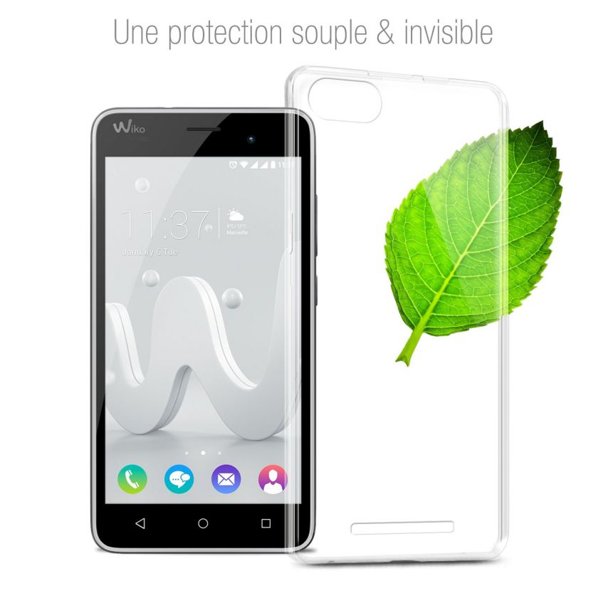 Extra Slim 1mm Crystal Clear View Flexible Case Wiko Jerry