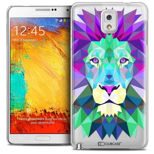 Extra Slim Crystal Galaxy Note 3 Case Polygon Animals Lion