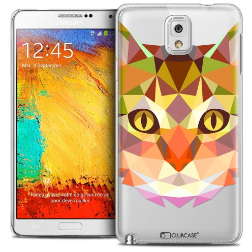 Extra Slim Crystal Galaxy Note 3 Case Polygon Animals Cat