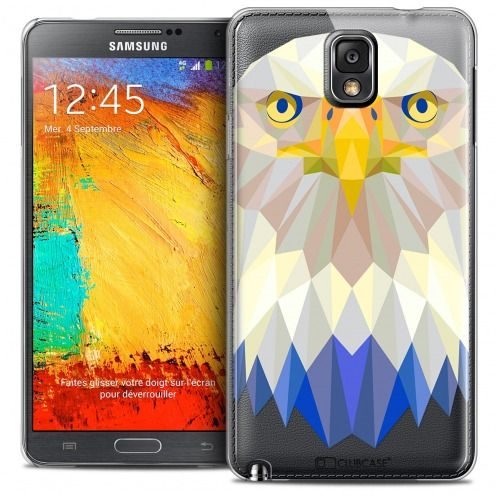 Extra Slim Crystal Galaxy Note 3 Case Polygon Animals Eagle