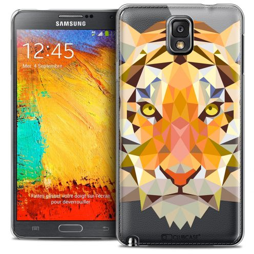 Extra Slim Crystal Galaxy Note 3 Case Polygon Animals Tiger