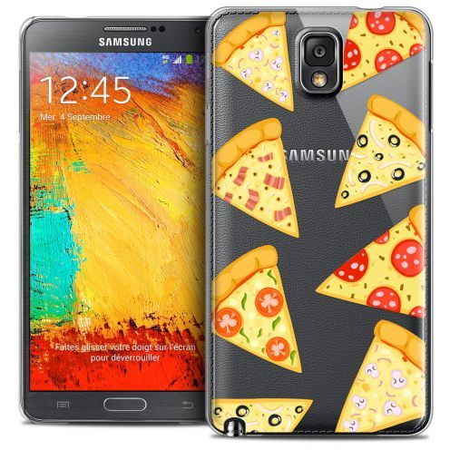 Extra Slim Crystal Galaxy Note 3 Case Foodie Pizza