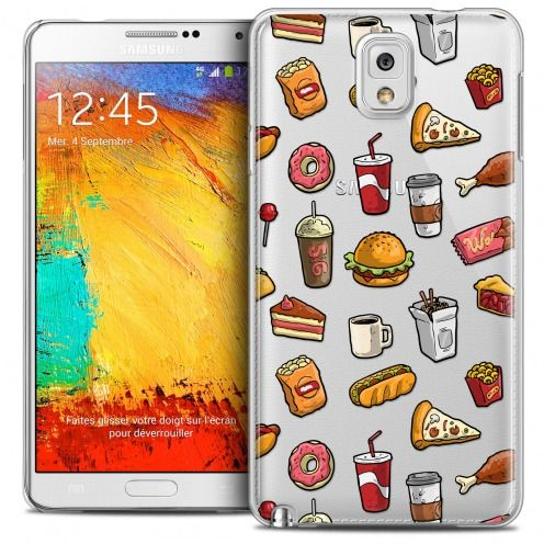 Extra Slim Crystal Galaxy Note 3 Case Foodie Fast Food