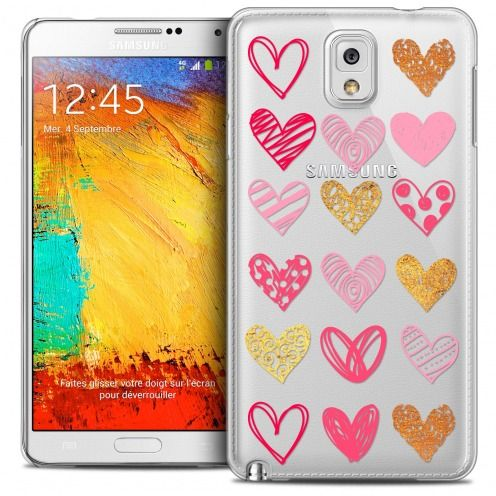 Extra Slim Crystal Galaxy Note 3 Case Sweetie Doodling Hearts