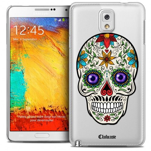 Extra Slim Crystal Galaxy Note 3 Case Skull Maria's Flower