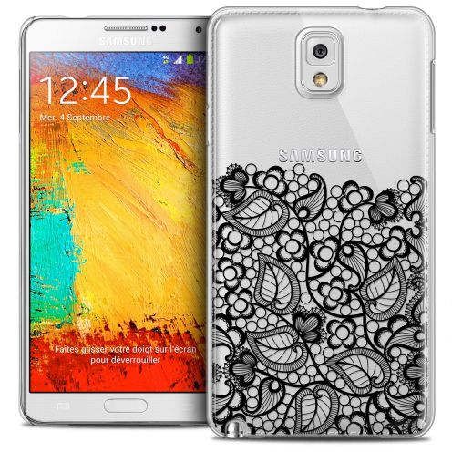 Extra Slim Crystal Galaxy Note 3 Case Spring Bas dentelle Noir