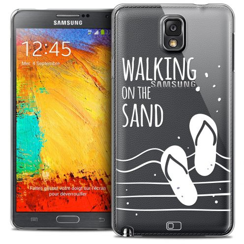 Extra Slim Crystal Galaxy Note 3 Case Summer Walking on the Sand