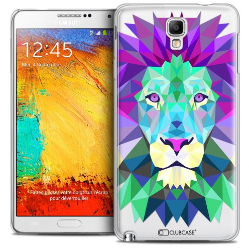 Extra Slim Crystal Galaxy Note 3 Neo/Mini Case Polygon Animals Lion