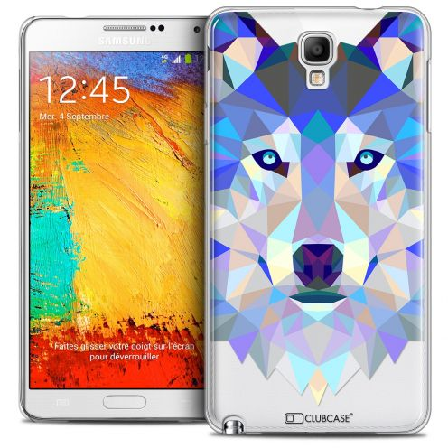 Extra Slim Crystal Galaxy Note 3 Neo/Mini Case Polygon Animals Wolf