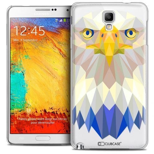 Extra Slim Crystal Galaxy Note 3 Neo/Mini Case Polygon Animals Eagle