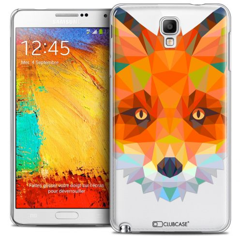 Extra Slim Crystal Galaxy Note 3 Neo/Mini Case Polygon Animals Fox